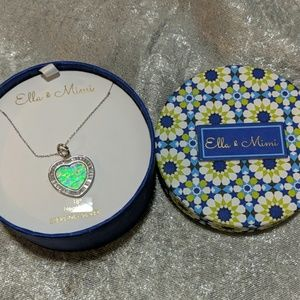 Jewelry - Ella and Mimi Sterling Silver Heart Necklace NWT